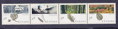 Canada 1990 Forests Strip of 4 MNH
