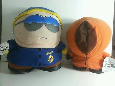 South Park - Police Officer  Cartman plush soft toy & Kenny