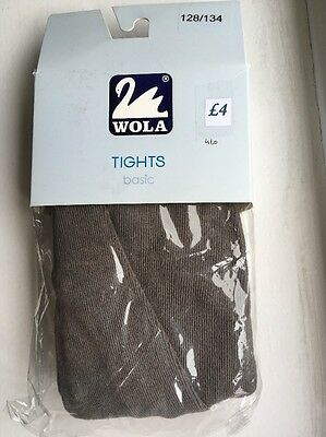 School Cotton Tights In Grey, 8-9years