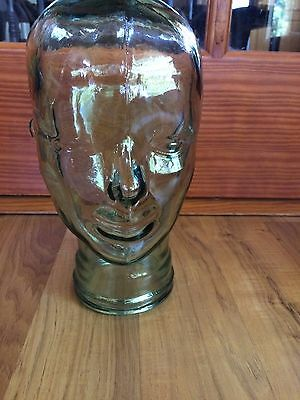 Clear Green Glass Mannequin Head