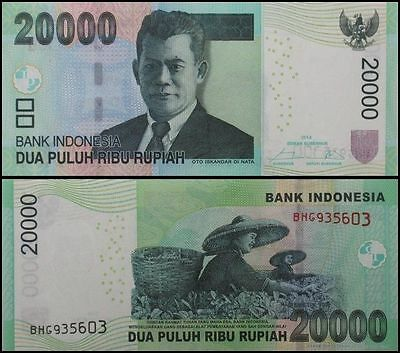 Indonesia 20,000X 50 Pieces=1Million Rupiah,IDR,UNC Banknotes,CONSECUTIVE NUMBER