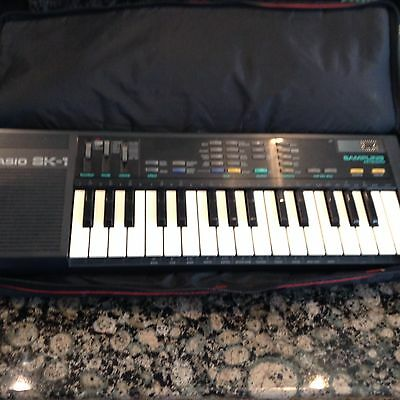 Vintage CASIO SK-1 Sampling Electronic Piano Synthesizer Keyboard USED WORKS
