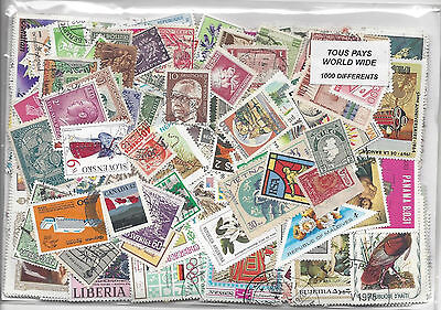 World Wide 1000 Different stamps CTO