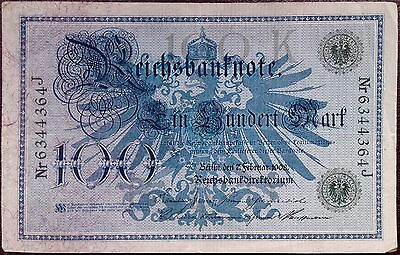 Imperial Germany banknote - 5 mark - 1908 - green number - Darlehenskassenschein