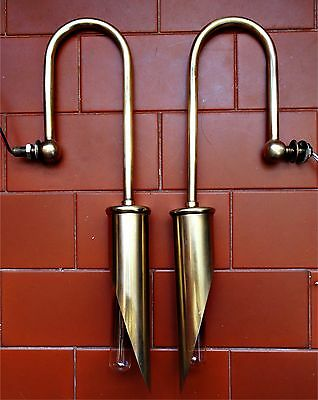 Antique Brass Art Deco Outdoor Wall Light With a Certain Elegance