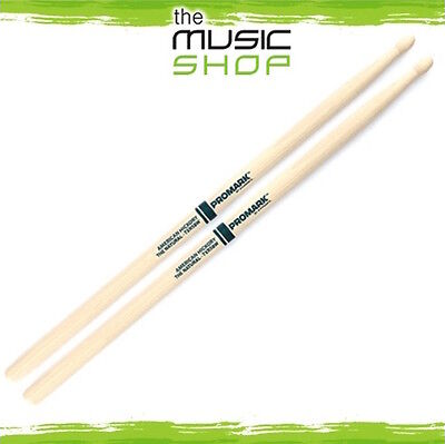 New Set of Promark Hickory 5B 'The Natural' Drumsticks with Wood Tips