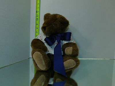 Vermont Teddy Bear Company Plush Stuffed animal Toy Doll Poseable Brown Plushie