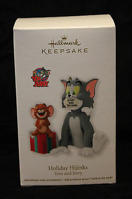 Tom and Jerry Holiday Hijinks Hallmark Ornament Cat & Mouse New in Box