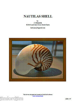 NAUTILAS SHELL - Cross Stitch Chart