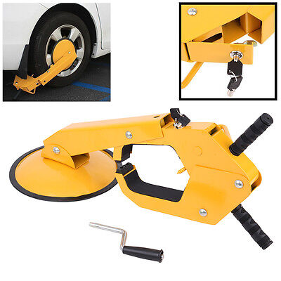 Parking Boot Car Tire Claw Wheel Clamp Boat ATV RV Truck Trailer Lock Anti Theft
