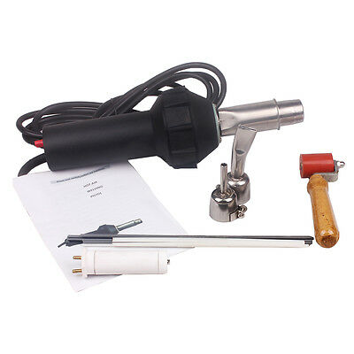 1600w Plastic Hot Air Gas Welder Heating Welding Gun With 2 Nozzle 110V