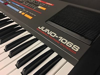 Roland Juno 106s Analog Synthesizer Serviced! 106 240V