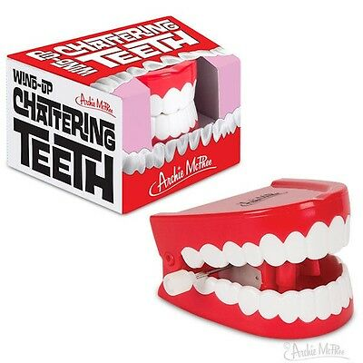 Classic Novelty WIND UP CHATTERING TEETH, Illustrated Box, Arkham Joker Cosplay