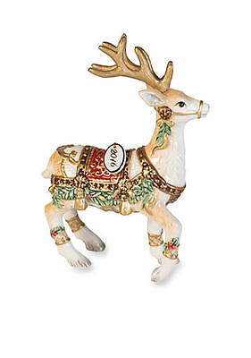 Fitz and Floyd Reindeer Ornament 2016 Yuletide Holiday