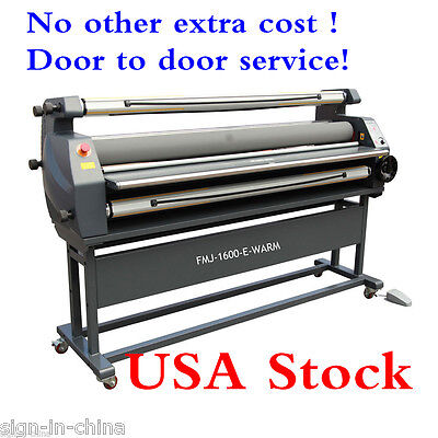 """US STOCK 110V 63"""" Entry Level Full Auto Heat Assisted Wide Format Cold Laminator"""