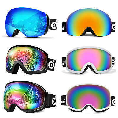 Ski Goggles Double Anti Fog Lenses 400 UV Protection For men women kids Skiing