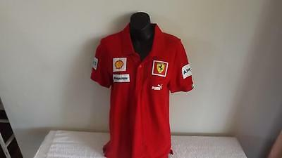 Ferrari Offical Puma  Polo Shirt In Like New Cond Size S