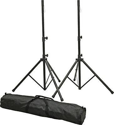 Proline PLSP1 Speaker Stand Set with Bag Black