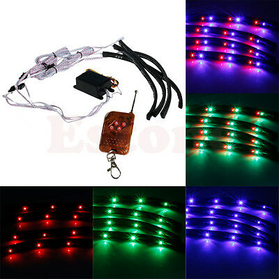 7 Color LED Strip Neon Lights Kit Underglow Underbody Glow System Under Car Tube