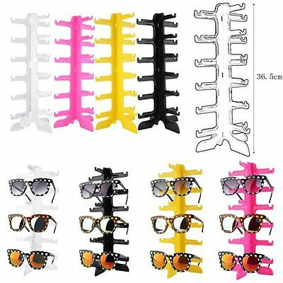 LOT Sun Glasses Glasses Plastic Frame Display / Show Stand Holder 6 Layers LO