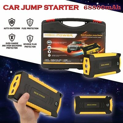 68800mAh Vehicle Emergency Car Jump Starter Power Backup Charger Booster Minimax