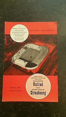 64/65 Manchester United v Racing Club of Strasbourg (With Token)