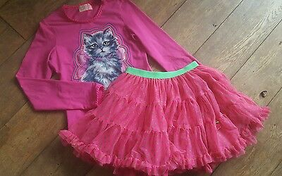 Most Gorgeous Outfit Ever? Mim Pi Kitten Top & Tutu Age 10-11 *brand
