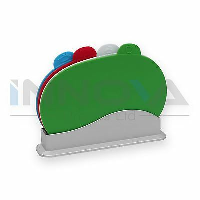 Cutting Chopping Board Set With Holder Colour Coded Boards Fish Meat Vegetables