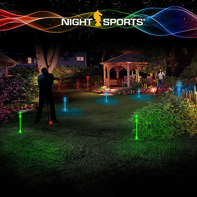 Night Sports Light up Putting Flags Blue