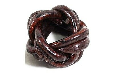 Vintage Boy Scouts Commander Leather Woggle Thailand Head Knot