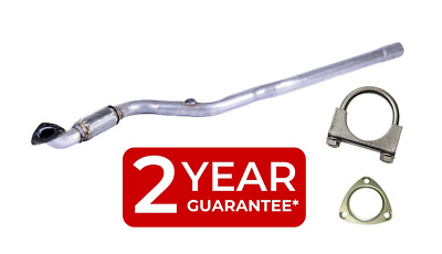 Front Flexi Pipe Centre Link Pipe Exhaust Vauxhall Zafira 1.6  05 + Fitting Kit