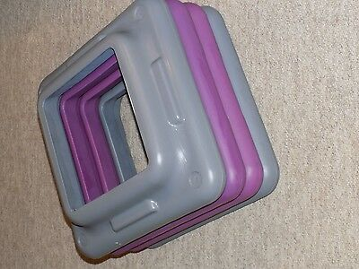 "4 Aerobic Step Risers Club Exercise Stepper (FITS ""THE STEP"") Square"