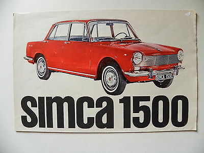 Catalogue brochure SIMCA 1300 / 1500