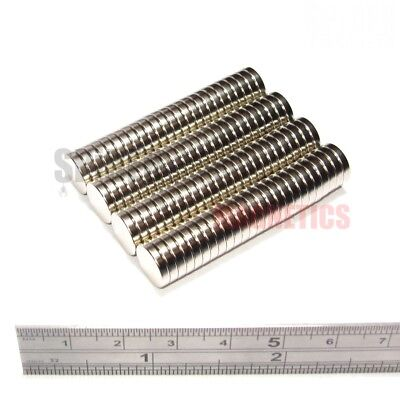 100 Very Strong Neodymium Disc Magnets 10x2 mm N52 small magnet 10mm dia x 2mm