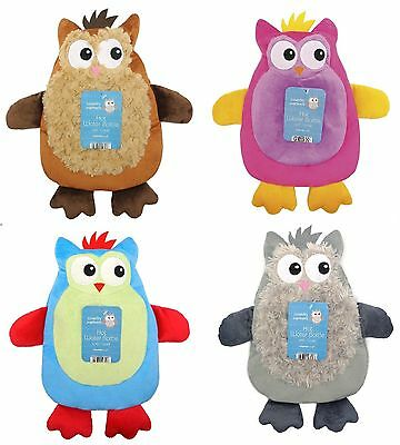 Hot Water Bottle With Soft Touch OWL Cover Fluffy Soft Winter Gift 1000ML