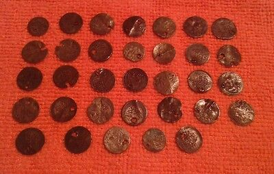 LOT of 33 Mix_ OTTOMAN .ISLAMIC SILVER Akche-Para COINS+ 18th century