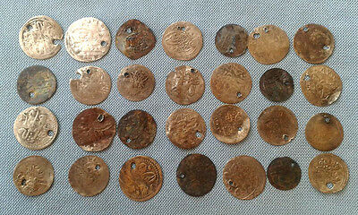 LOT of 28 Mix_ OTTOMAN .ISLAMIC SILVER Akche-Para COINS+ 18th century