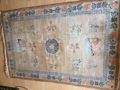Art Deco Chinese Silk Woven Rug