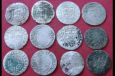 Rare Lot Of 12 Silver Late Medieval Hammered Coins - Superb Coins