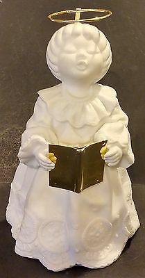 Department 56 White Porcelain Singing Angel Figurine - China
