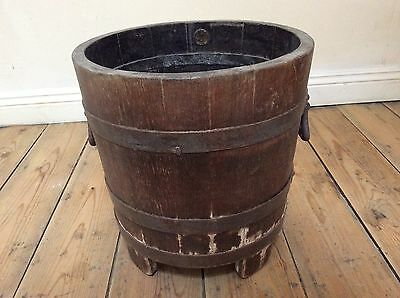 Vintage English Cast Iron Bound Planter Pot Holder By R.A. Lister & Co. Dursley