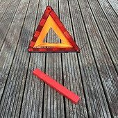 Large Foldable Car Emergency Reflective Red Safety Warning Breakdown Triangle