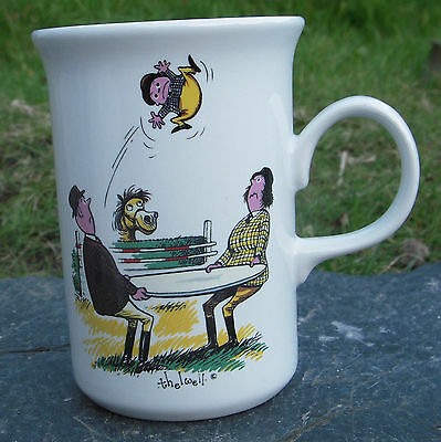 Vintage Gray's Norman Thelwell Pony Horse Staffordshire Ceramic Cup/Mug © 1967