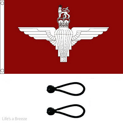 Parachute Regiment Flag 5x3ft Flag.Comes With FREE BALL TIES