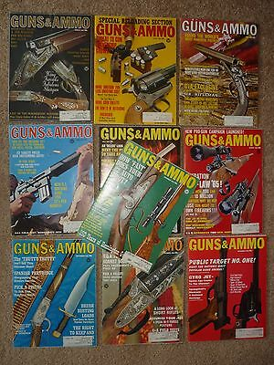 10 Issues of 1965 Guns & Ammo Magazines, Not a Complete Year