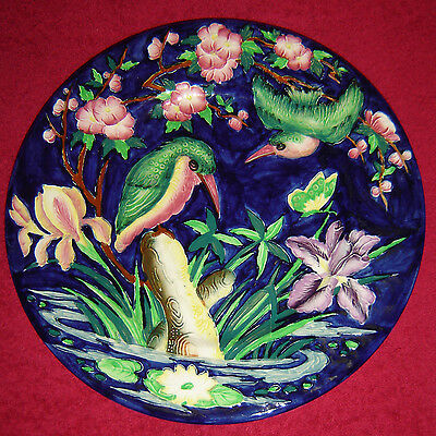 Maling Kingfisher Lustre Charger Plate