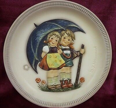 """Hummel """"STORMY WEATHER"""" Hum 280 First Edition 1975 ANNIVERSARY PLATE FREE  SHIP"""