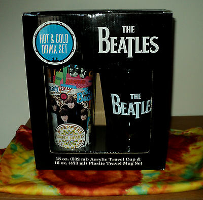 Beatles NEW IN BOX Authentic Design Hot & Cold Travel Cup & Mug Set