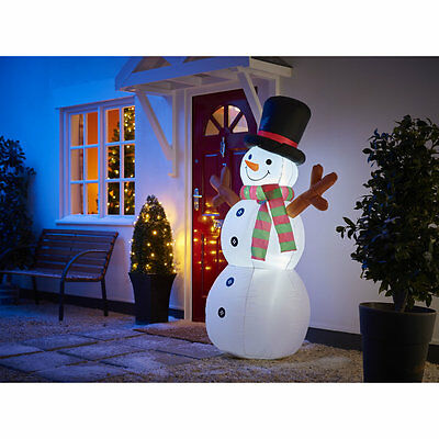 Large Light Up Inflatable Santa Sleigh Outdoor Air blown Christmas Decoration