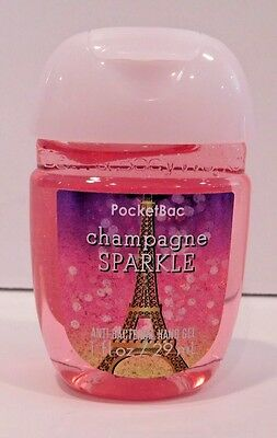 1 Bath Body Works Pocketbac Champagne Sparkle Anti Bacterial Hand Gel
